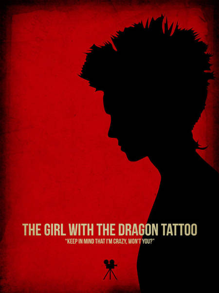 Wall Art - Digital Art - The Girl With A Dragon Tattoo by Naxart Studio