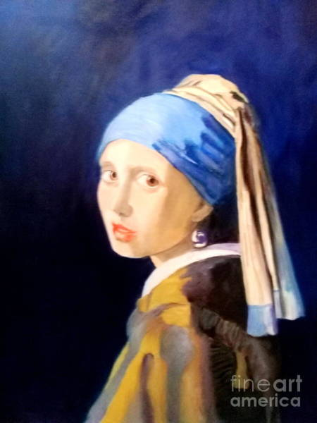 Painting - The Girl With The  Pearlearring by Dagmar Helbig