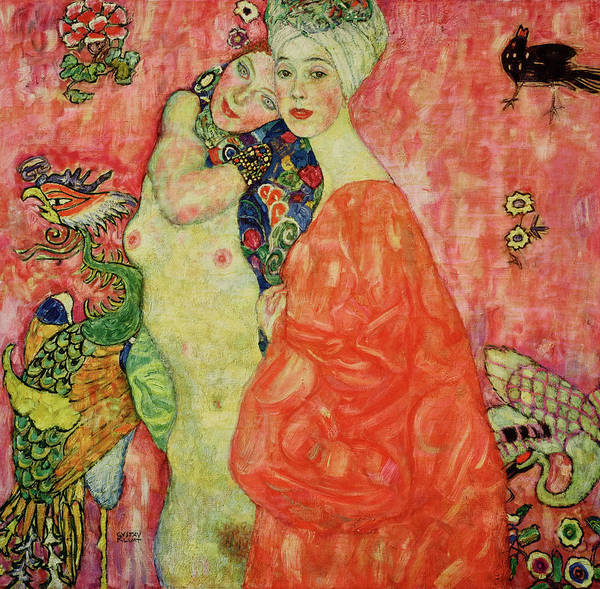 Girlfriend Painting - The Girlfriends, 1916-1917 by Gustav Klimt