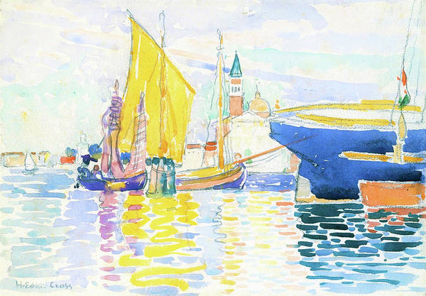 Wall Art - Painting - The Giudecca, Venice - Digital Remastered Edition by Henri Edmond Cross