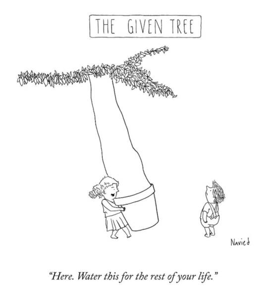 Drawing - The Given Tree by Navied Mahdavian