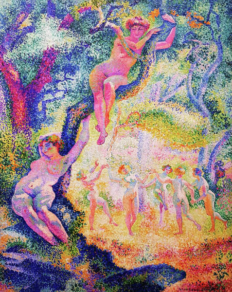 Wall Art - Painting - The Glade - Digital Remastered Edition by Henri Edmond Cross