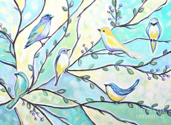 Painting - The Glass Birds by Elizabeth Robinette Tyndall