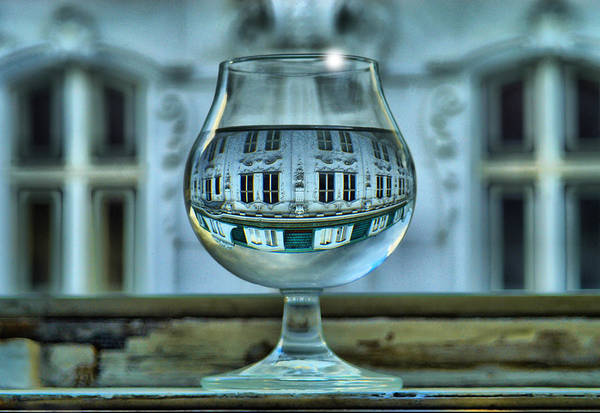 Photograph - The Glass - Living Upside Down by Jonny Jelinek