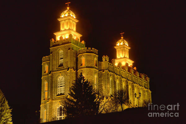 Photograph - The Glowing Logan Temple by Adam Jewell
