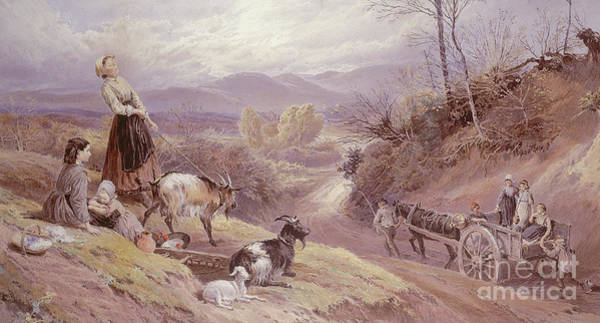 Wall Art - Painting - The Goat Herd, 19th Century by Myles Birket Foster