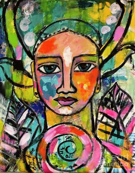 Mixed Media - The Goddess Of Self Love  by Corina Stupu Thomas