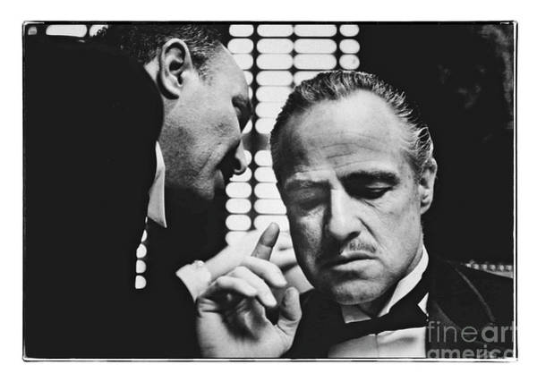 Photograph - The Godfather - Brando by Doc Braham