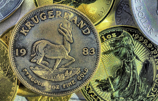 Photograph - The Gold Krugerrand by JC Findley