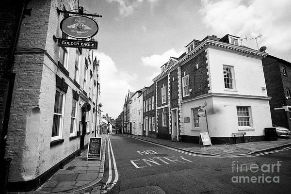 Wall Art - Photograph - The Golden Eagle Pub At The Junction Of Castle Street And St Marys Hill Historic Area Chester Cheshi by Joe Fox