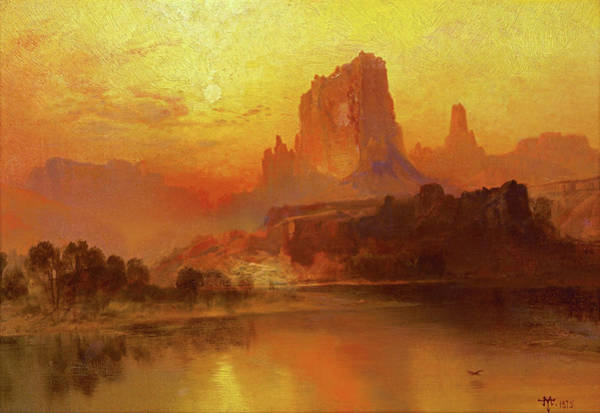Wall Art - Painting - The Golden Hour - Digital Remastered Edition by Thomas Moran