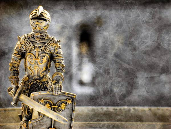 Photograph - The Golden Miniature Knight by Jonny Jelinek