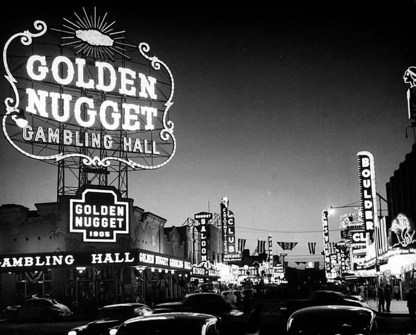 Las Vegas Photograph - The Golden Nugget Gambling Hall Lighting by J. R. Eyerman
