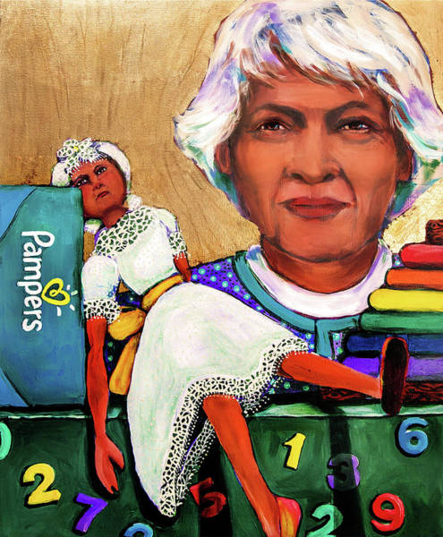 Mixed Media - The Golden Years - Daycare Worker by Cora Marshall
