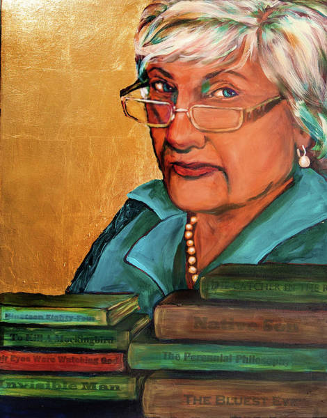 Mixed Media - The Golden Years - Library Assistant by Cora Marshall