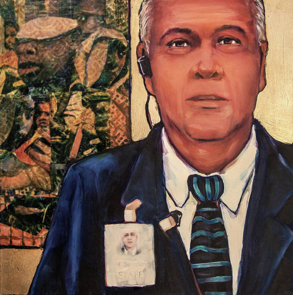 Mixed Media - The Golden Years - Museum Guard by Cora Marshall