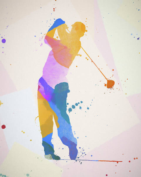 Wall Art - Painting - The Golfer by Dan Sproul