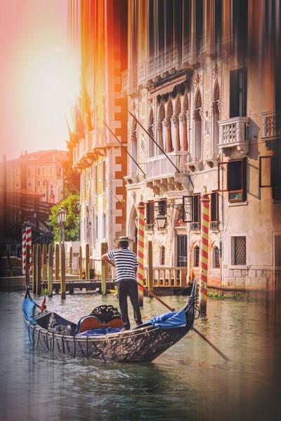 Venezia Photograph - The Gondolier Venice Italy  by Carol Japp