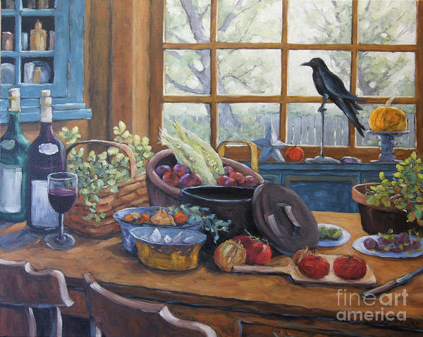 Wall Art - Painting - The Good Harvest Country Kitchen By Richard Pranke by Richard T Pranke