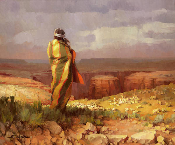 Painting - The Good Shepherd by Steve Henderson