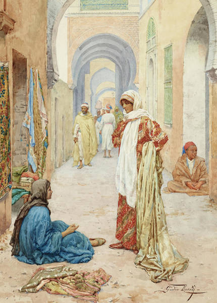 Wall Art - Painting - The Gossips by Giulio Rosati