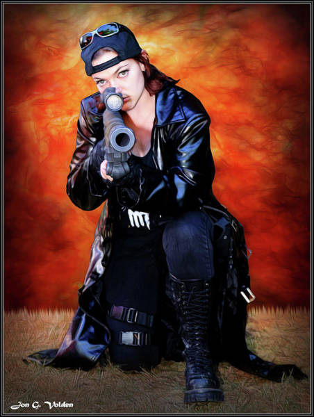 Photograph - The Goth Sniper by Jon Volden