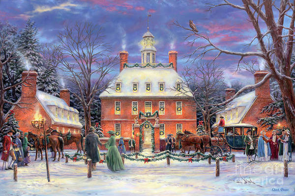 Village Painting - The Governor's Party by Chuck Pinson