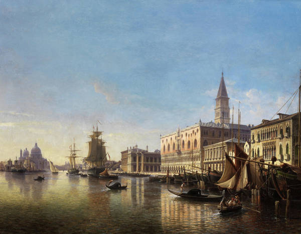 Wall Art - Painting - The Grand Canal by Julius Helfft