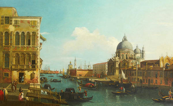 Wall Art - Painting - The Grand Canal, Venice, With Santa Maria Della Salute And The Punta Della Dogana Beyond by William James