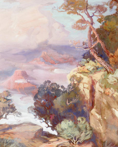 Wind River Range Wall Art - Painting - The Grand Canyon, 1919 by Carl Oscar Borg