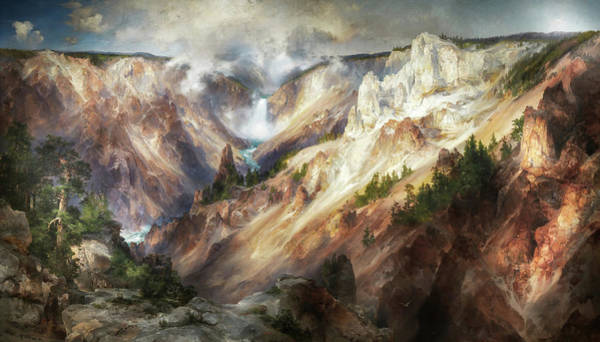 Painting - The Grand Canyon Of The Yellowstone, 1901 by Thomas Moran