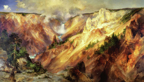 Wall Art - Painting - The Grand Canyon Of The Yellowstone - Digital Remastered Edition by Thomas Moran