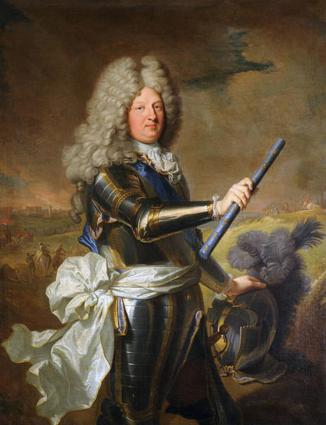 Wall Art - Painting - The Grand Dauphin - Louis De France Portrait by War Is Hell Store