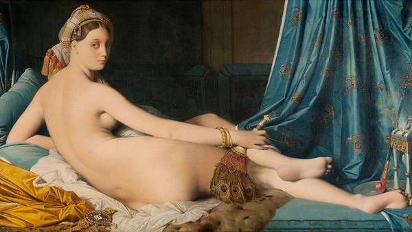 Wall Art - Painting - The Grand Odalisque - Digital Remastered Edition by Dominique Ingres