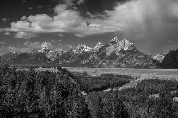 Photograph - The Grand Teton Range And Snake River by Matthew Irvin