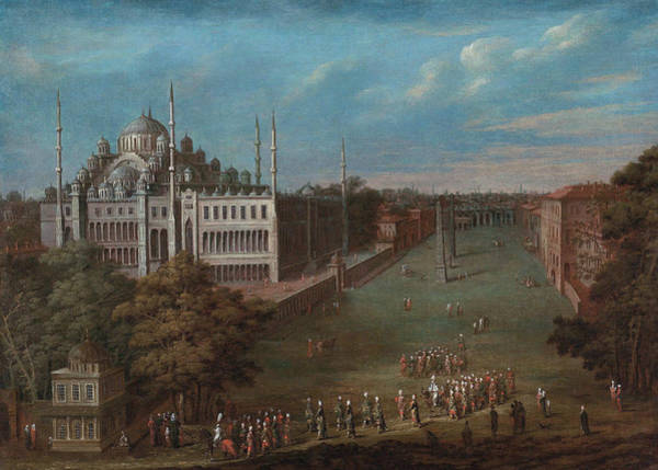 Painting - The Grand Vizier Crosses The Atmeydan by Jean Baptiste Vanmour