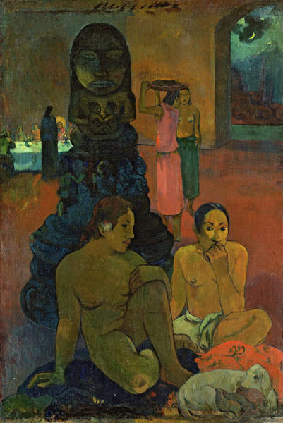 Wall Art - Painting - The Great Buddha, 1899 by Paul Gauguin