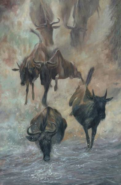 Wall Art - Painting - The Great Migration by David Stribbling