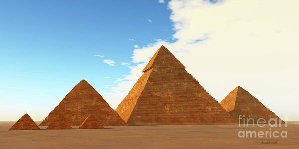 Archeology Digital Art - The Great Pyramids by Corey Ford