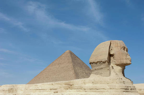 Ancient Photograph - The Great Sphinx Of Giza And The by Cultura Exclusive/philip Lee Harvey