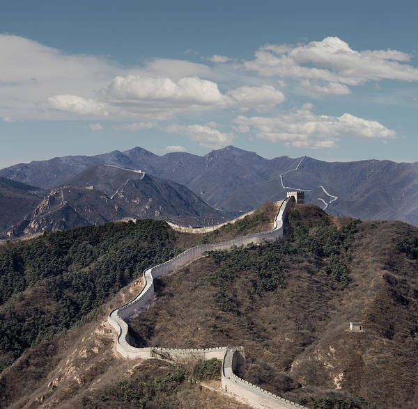 The Great Wall At Badaling, Beijing Art Print by Ed Freeman