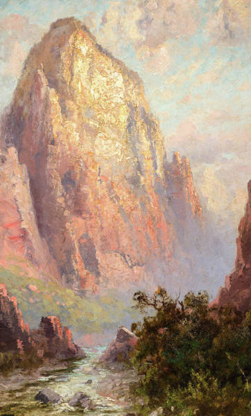 Zion Painting - The Great White Throne, Zion National Park by John Fery