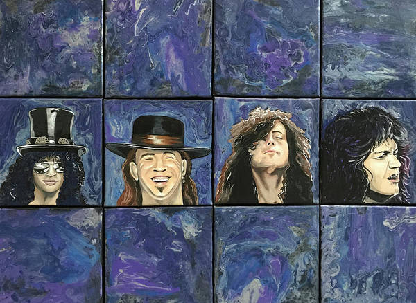 Guns And Roses Painting - The Greats by Jane Morassutti
