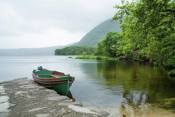Killarney Photograph - The Green Boat by Vegard Sætrenes