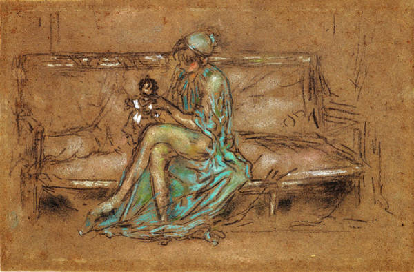 Wall Art - Painting - The Green Cap - Digital Remastered Edition by James McNeill Whistler
