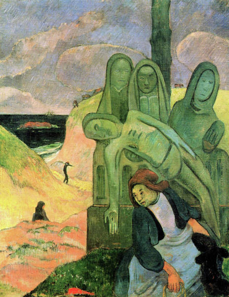 Wall Art - Painting - The Green Christ, Or Breton Calvary - Digital Remastered Edition by Paul Gauguin