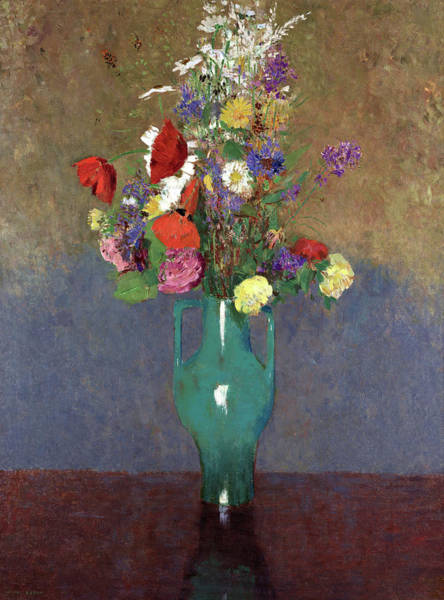 Wall Art - Painting - The Green Vase, 1900 by Odilon Redon