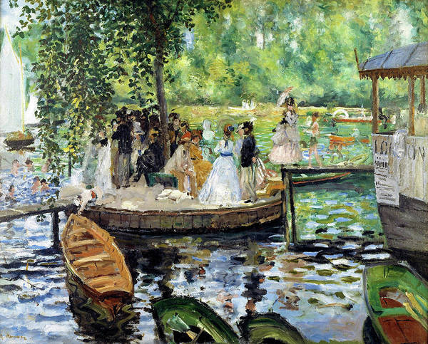 Riverbed Painting - The Grenouillere - Digital Remastered Edition by Pierre-Auguste Renoir