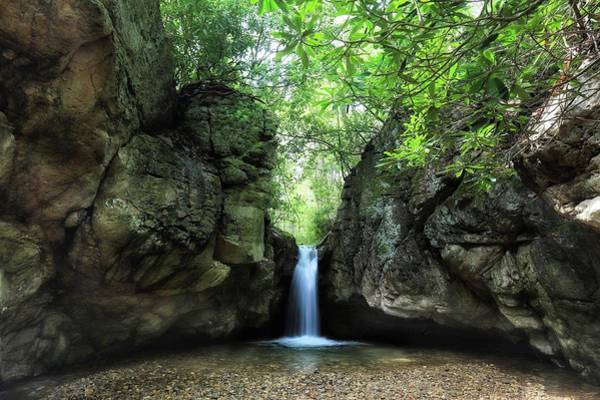 Photograph - The Grotto At The Blue Hole by Chris Berrier