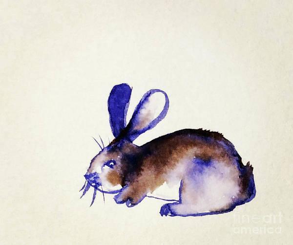 Fife Painting - The Grumpy Purple Rabbit by Marisa Fife